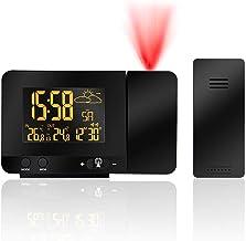 Kinder ROCAM Projektionswecker Wecker Digital mit USB-Anschluss Blaue Projektionsuhr Gro/ße 7 LED Bildschirm,4 einstellbare Helligkeiten,Wechselstrom,Batterieunterst/ützung f/ür Schlafzimmer K/üche