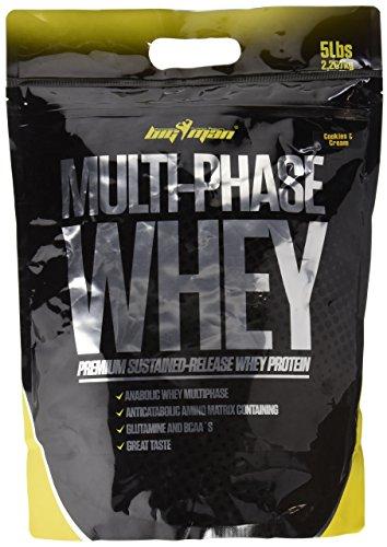 Big Man Nutrition Multi-Phase Whey Complejo de Proteínas, Cookies - 2268 gr
