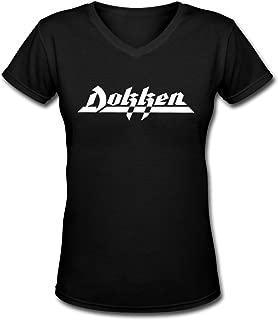 Sealiarks Dokken Metal Band Logo Fashion Women's Perfect Soft V-Neck T-Shirt