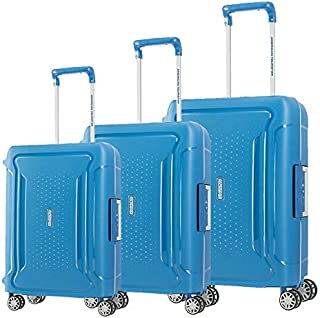 American Tourister Luggage Trolley Bags For Unisex, 3 Pieces - Blue