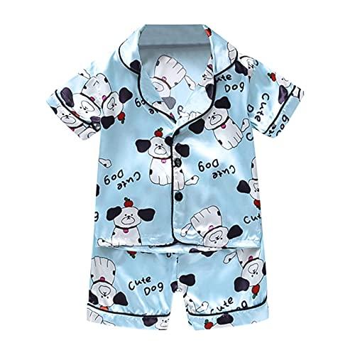 Hungryme Pijamas Conjunto 2 Piezas Verano Niñas 0 - 24 Meses, Botones Superiores Estampado...