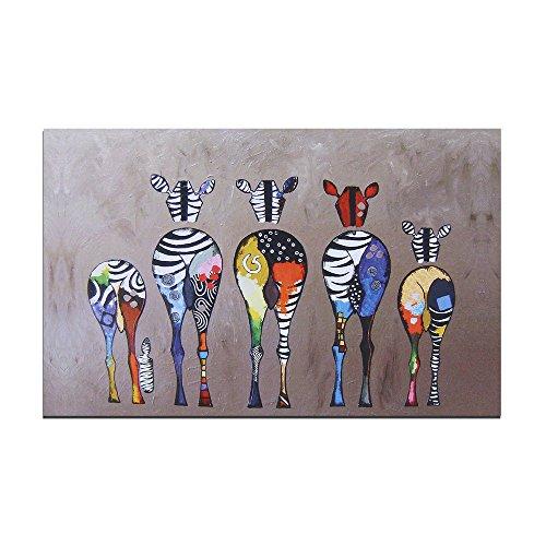 Moderne Peinture sur toile 50*70cm Couleur Motif zèbres Peinture à l'huile abstraite moderne sur toile Décoration murale