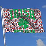 Oaqueen Flagge/Fahne Irish Hooligan Breeze Flag 3 X 5-100% Polyester Single Layer Translucent Flags 90 X 150CM - Banner 3' X 5' Ft
