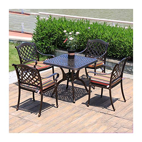 DYYD 5 Piece Iron Tables and chairs,Patio Furniture Conservatory Furniture Table Sets Patio Conservatory Indoor Outdoor for Outdoor Garden Poolside Garden Furniture Sets