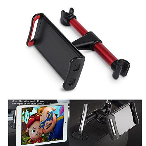 Supporto per Poggiatesta per Auto, Supporto per Tablet per Seggiolino Regolabile per iPad, base per iPad/Samsung Galaxy Tabs/Interruttore Amazon...