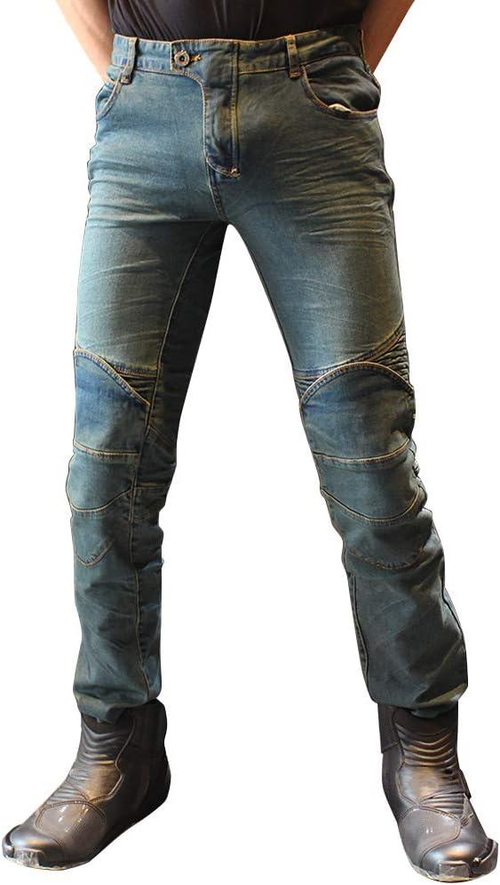 Youcai Sportliche Motorrad Hose Mit Protektoren Denim Biker Cargo Jeans Hosen Für Herren Damen Xs Blau Auto