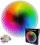 Round Rainbow Puzzles - YUESEN 1000 Piezas Colorido Redondo Geométrico Círculo Rompecabezas Educativo Arco Iris Puzzle Paleta Intelectual Y Juego De Alivio De Estrés Para Niños Adultos