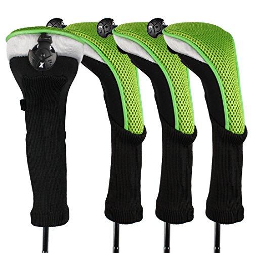 Andux 4 pcs/lot Long cou couvertures de tête de club de golf hybride avec interchangeables sans étiquette. Ctmt-02, rose