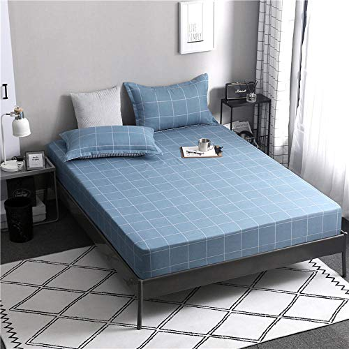 GTWOZNB Deep Fitted Sheets Microfiber Bed Sheets, Simple Aloe Cotton Bed Sheet-6_120*200cm