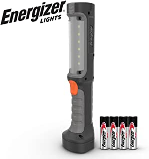 Energizer LED Flashlight, 550 High Lumens, IPX4 Water Resistant, Professional-Grade Work Light, Magnetic Wall-Mount, Batteries Included