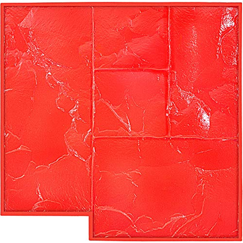"""VEVOR Concrete Texturing Skin, 24""""x24"""" Concrete Stamp Mat, Polyurethane Concrete Stamping Mat, Red Slate Concrete Stamp, Concrete Texture Mat Stamp, Concrete Patterns Stamp for Cement Walls/Floors"""