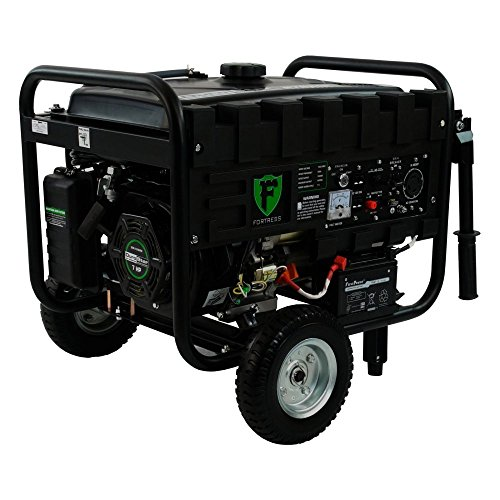Fortress Hybrid 4,400 Watt Dual Fuel Generator with Wheel...