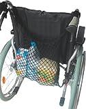 Rollstuhlnetz Einkaufsnetz mit Innenfutter, schwarz -