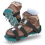 ZLOP Zapatos para airear el césped con 6 correas de sujeción, para escarificar el césped, aireadores, zapatos para césped, sandalias