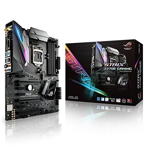 ASUS ROGSTRIX Z270E GAMING Scheda Madre, 1151 ATX, Aura Sync, 802.11ac Wi-Fi, Dual M.2, Front USB 3.1 Type-C