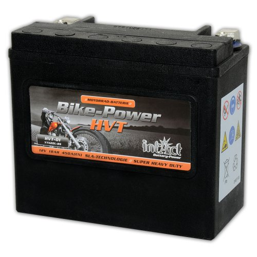 Intakt Bike Power Motorradbatterie HVT 01 SLA 12 V 18 AH 530 A (YTX20L-BS) (Preis inkl. EUR 7,50 Pfand)