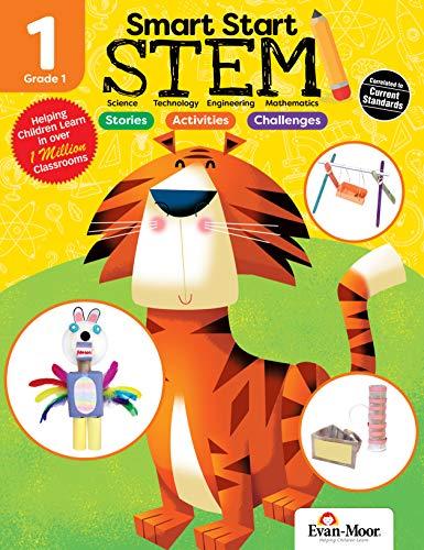 Evan-Moor Smart Start STEM Grade 1 Activity Book Hands-on STEM Activities and Critical Thinking...