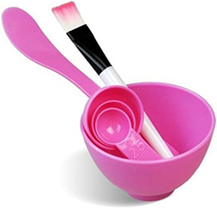 Royare Face Like High Quality DIY Handmade Mask Bowl Brush Appliances Spoon Set (Color Random)