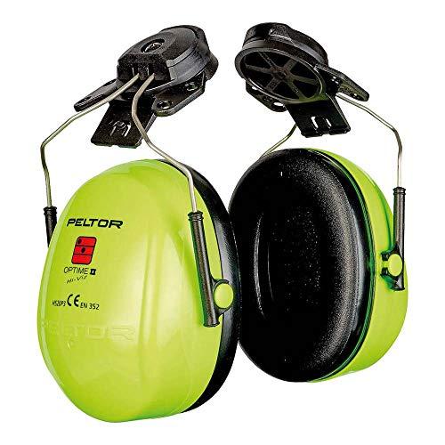 3M PELTOR Optime II Orejeras para casco Alta Visibilidad 30 dB (1 orejera/caja), H520P3E-467-GB