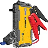 GOOLOO 1500A Peak Car Jump Starter - GT1500(Up to 8.0L Gas, 6.0L Diesel Engine) with USB Quick Charge, Type-C Port, Water-Resistant Function,12V Portable Car Starter - Car Battery Booster,Yellow