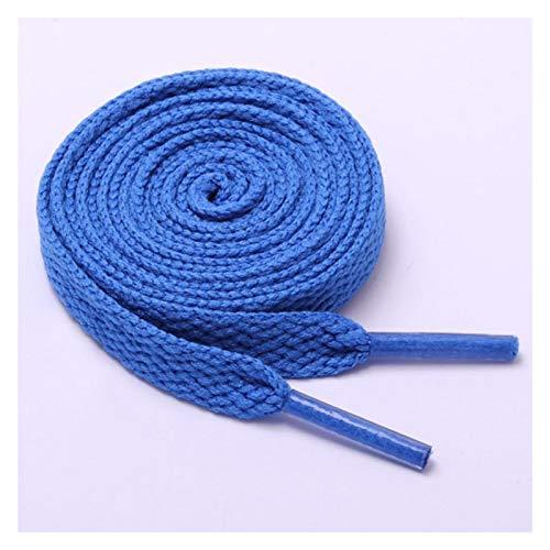 XPWOZ 15 Colores Oval 1Pair Zapato atlético Cordones Deporte Zapatilla de Deporte Botas Cordones de Cuerda Colores Lisos (Color : Blue, Size : 100cm)