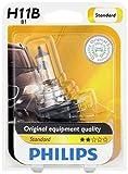 Philips 12363B1 H11B Standard Halogen Replacement Headlight Bulb, 1 Pack