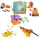STEM Toys for kids 5 years to 10 years - This 5-in-1 FUN-DO SCIENCE ADVENTURE BOX, is a magical box that will set your child on an adventure into the unknown. Your child would BUILD amazing things from Vacuum cleaners to Wind mills, from cannons to p...