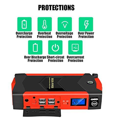 Neue Auto Starthilfe 12 V 4USB Tragbare Autobatterie Booster Ladegerät Notstart Energienbank Tool Kit,AUPlug
