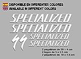 Ecoshirt 8H-CT7D-CTXF Pegatinas Special F123 Vinilo Adesivi Decal Aufkleber Клей MTB Stickers Bike, Blanco