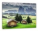 Pixxprint Blockhäuser in den Dolomiten als