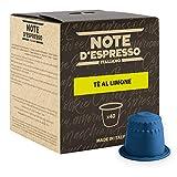 Note D'Espresso Capsule Compatibili con Sistema Nespresso, Tè al Limone, 40 caps