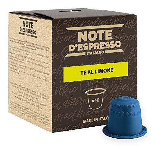 Note D'Espresso - Tè al Limone - Capsule Compatibili Soltanto con Nespresso* - Confezione da 40