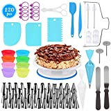 Cake Decorating Supplies,120 PCS Baking Pastry Tools,Cake Rotating Turntable,Cake Decorating Kits,Muffin Cup Molds,Perfect for Beginners and Cake Lovers-Baking Tools
