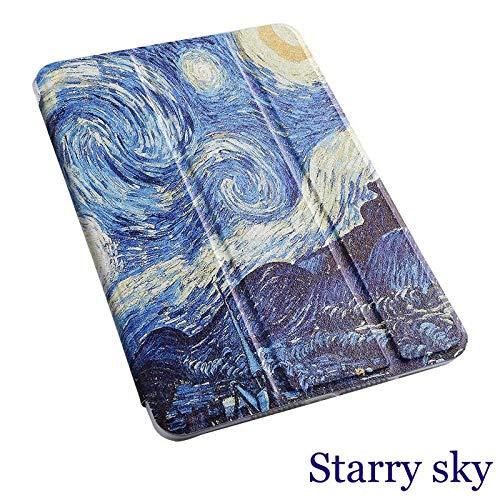 Custodia per tablet Cartoon per Samsung Galaxy Tab S2 9.7 Smart wake Sleep fundas fold Supporto verniciato per SM-T810 / T815 / T813 / T819 N-Cielo stellato_Porselein