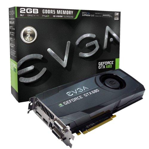 EVGA 02G-P4-2680-KR Grafikkarte (PCI-e, 2GB GDDR5 Speicher, NVIDIA GTX 680, DVI, 1 GPU)