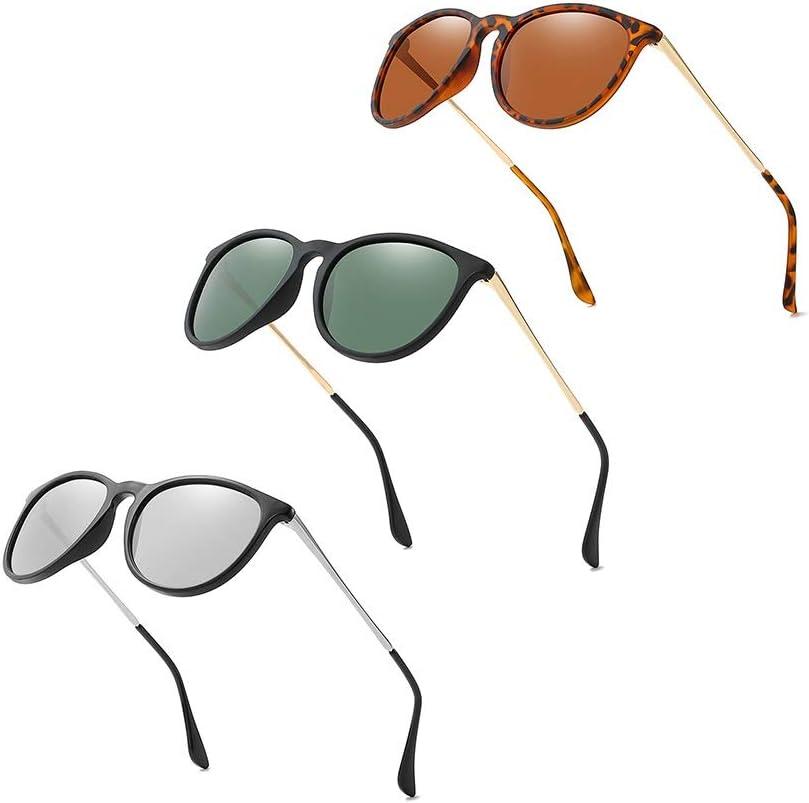 LVYY Lunettes de Soleil polarisées for Les Femmes personnalité Classique Mode Simple Convient for Shopping Street Shooting Party 3 Paires (Color : C1) C2