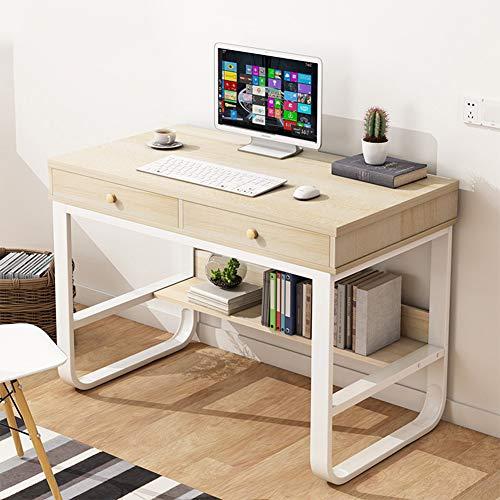 WXYNT Moderno Simple Mesa De Ordenador,Mesa De Estudio del Ordenador Portátil PC con Hutch Y 2 Cajones,Espacio-Ahorro Escritorio De Escritura para Home Office Workstation-A 80x50x76cm(31x20x30inch)
