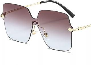 نظارات شمسيه مربعه عصرية بدون ايطار للنساء والرجال
