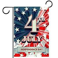 ガーデンフラッグ縦型両面 28x40inch 庭の屋外装飾.独立記念日7月4日