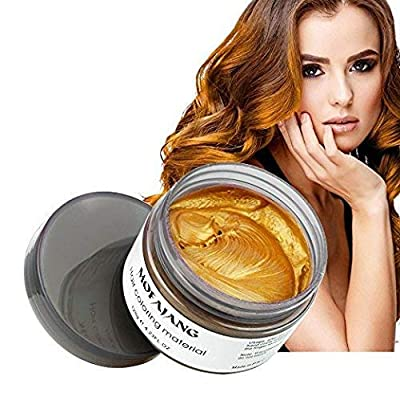 MOFAJANG Hair Coloring Dye Wax, Instant Hair Wax, Temporary Hairstyle Cream 4.23 oz, Hair Pomades, Natural Hairstyle Wax for Men and Women Party Cosplay