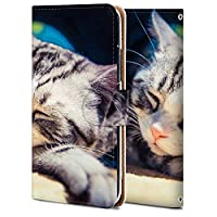 AQUOS sense3 ケース 手帳型 アクオス センス3 カバー スマホケース おしゃれ かわいい 耐衝撃 花柄 人気 純正 全機種対応 ねんごろの猫 写真.風景 アニマル かわいい 8914306