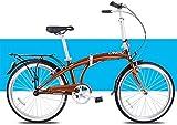 WXHHH La Absorción De Choque De La Bici Plegable, Bicicletas Adultos Hombres Mujeres Plegables 24in Plegable Bicicleta De Ciudad
