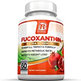 BRI Nutrition Fucoxanthin - Maximum Strength Seaweed Extract Plus Green Tea Extract Metabolism Booster - 30 Day Supply - 60 Capsules