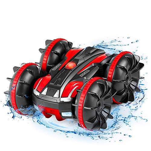 Remote Control Car Boat Truck - Amphibious All Terrain 4WD 2.4Ghz Stunt Car RC Off Road Monster Vehicle Pool Toys Gift for Boys and Girls 3 4 5 6 7 8 Years Old