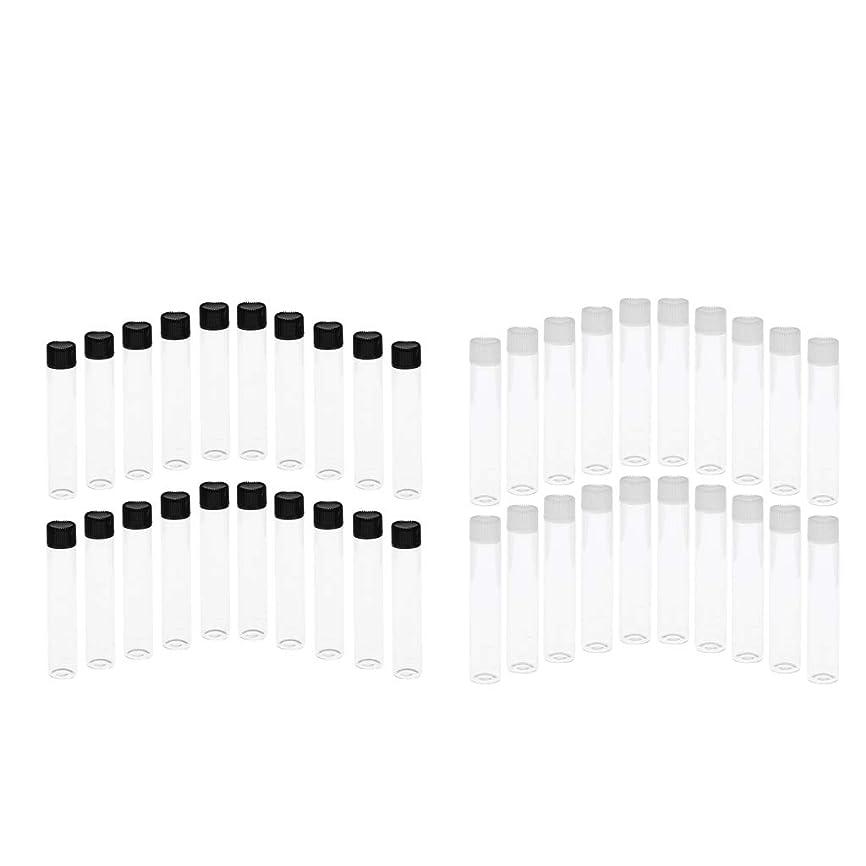 すぐにリスハブCUTICATE 約40ピースセット ガラス ボトル 密閉 バイアル 小分け用 ガラスバイアル コスメ用詰替え容器