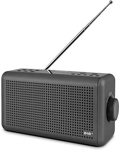 Nordmende Transita 210 - Tragbares DAB+ & UKW Digitalradio (Portable Musikbox mit Bluetooth Lautsprecher, Outdoor Radio mit Akku & Uhr)