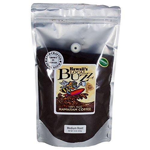 Hawaii's Local Buzz Ground Coffee, Medium Roast, 15 oz