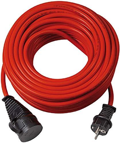 Brennenstuhl BREMAXX Verlängerungskabel (25m Kabel in rot, für den kurzfristigen Einsatz im Außenbereich IP44,Stromkabel einsetzbar bis -35°C, Öl- und UV-beständig)