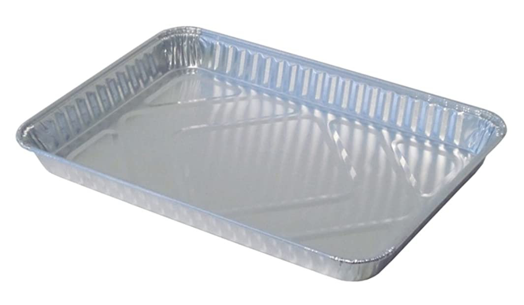 Durable Packaging Disposable Aluminum 1/4-Size Sheet Cake Pan (Pack of 100)