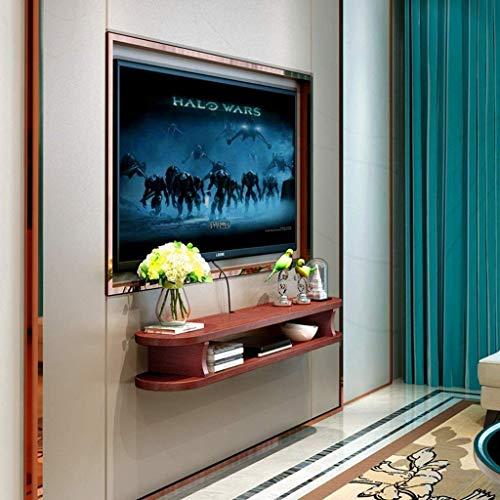 Dekorative Wandrahmen TV-Ständer Entertainment Schrank-Speicher-Management-Einheit DVD-Player Kabelbox Schwimm-Regal-Wand-Shelf (Farbe: B (120 cm)) zhaoyun (Color : C(100cm))